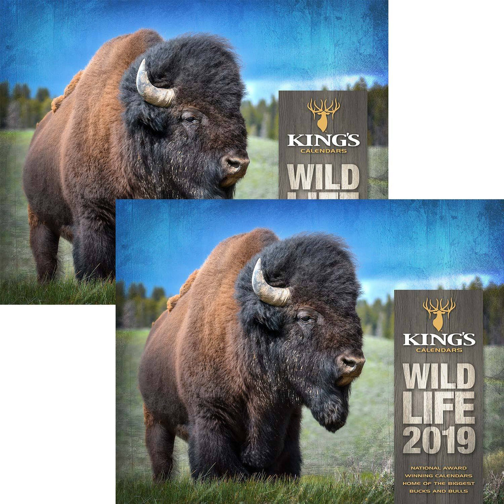 2019 King's Wildlife Calendar TWIN Pack | King's Camo