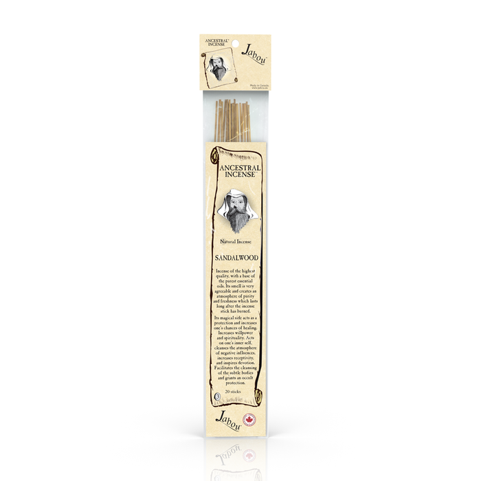 Jabou Ancestral Incense Sandalwood 20 Sticks @ 60 minutes