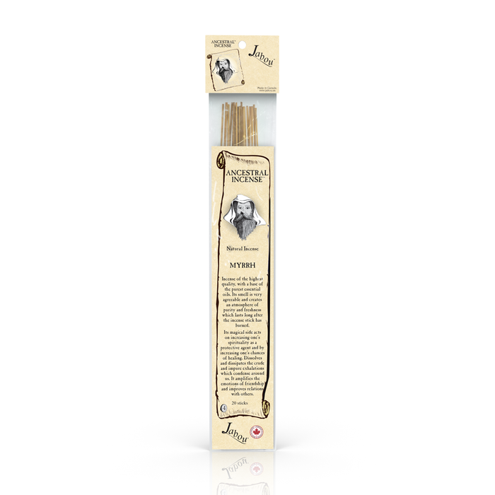 Jabou Ancestral Incense Myrrh 20 Sticks @ 60 minutes