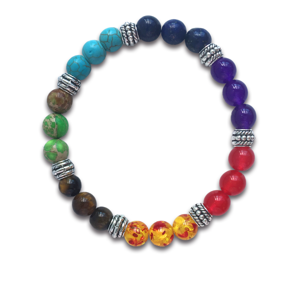 7 Colour Beads Chakras Bracelet for Women and Men - Helps Balance Your Chakras - Healing, Yoga, Meditation