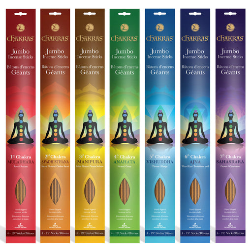7 Chakras Incense 4h+ 19i Jumbo Sticks