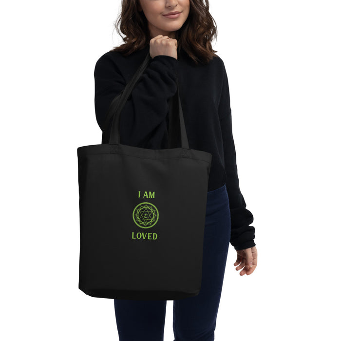 Forth Chakra - I am loved - Eco Tote Bag one side printing