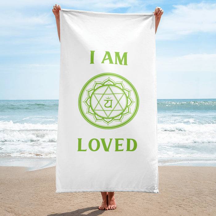 Forth Chakra - I am Loved - Towel