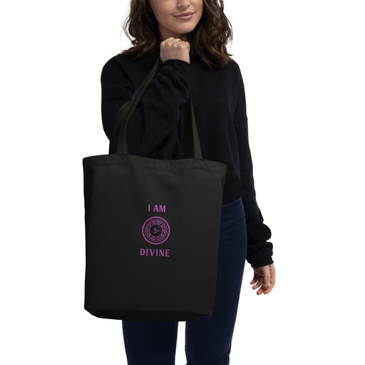 Seventh Chakra - I am Divine - Eco Tote Bag one side printing