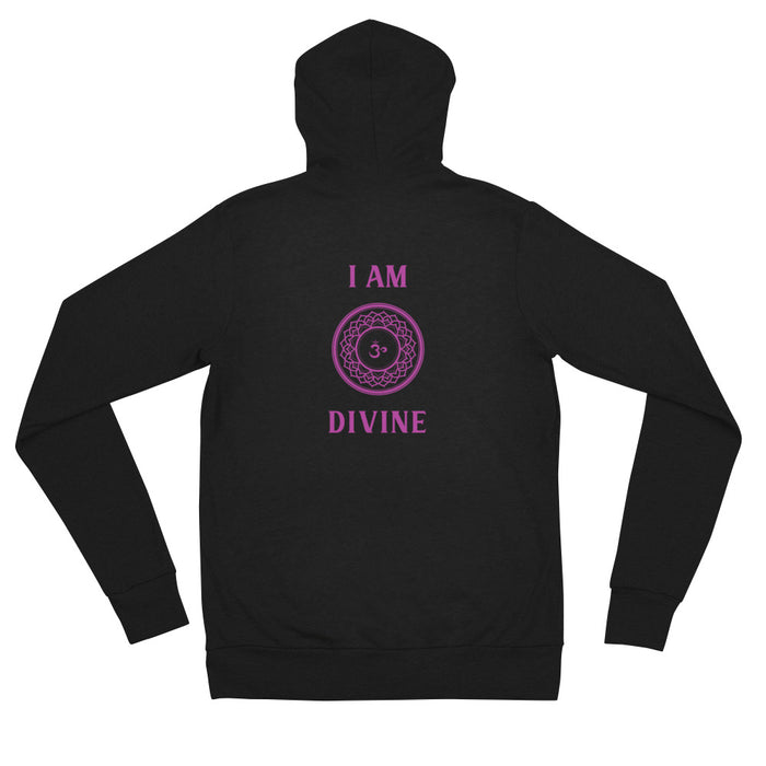 Seventh Chakra - I am Divine - Unisex zip hoodie