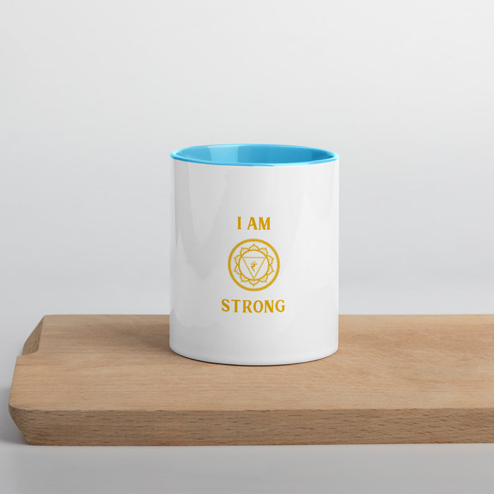 Third Chakra - I am stong - Mug with Color Inside