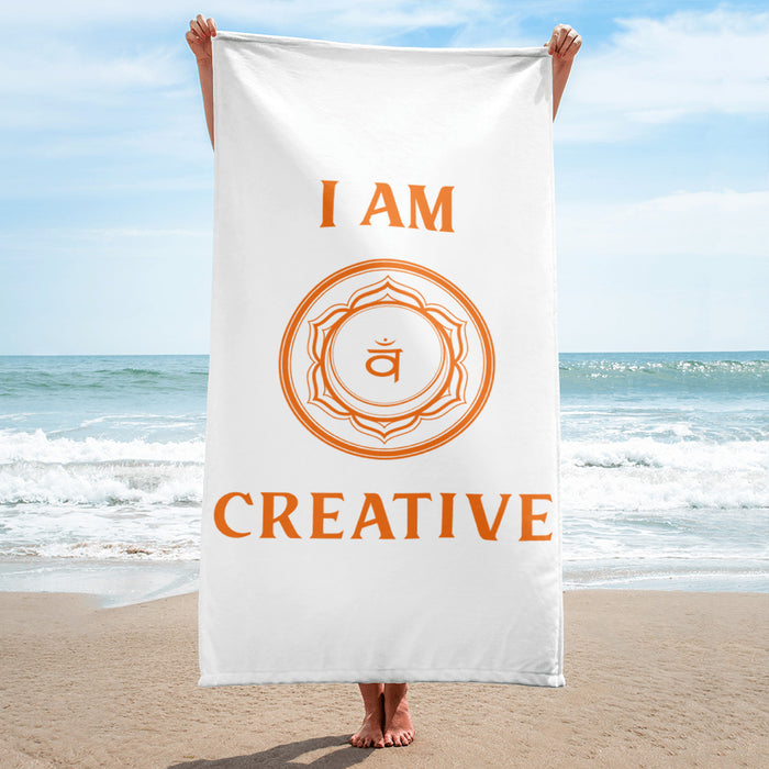 Second Chakra - I am Creative - Towel