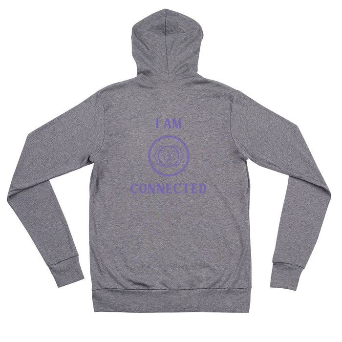 Sixth Chakra - I am Connected - Unisex zip hoodie