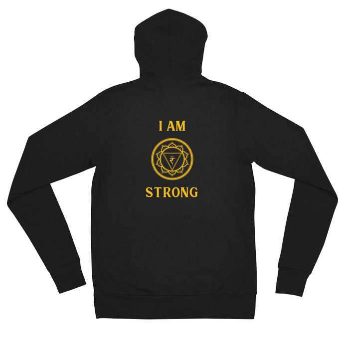 Third Chakra - I am Strong - Unisex zip hoodie