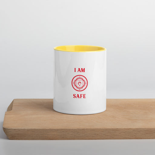 Root Chakra - I am Safe - Mug with Color Inside
