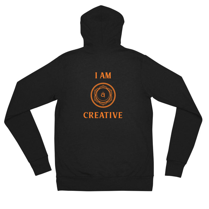 Second Chakra- I am Creative - Unisex zip hoodie