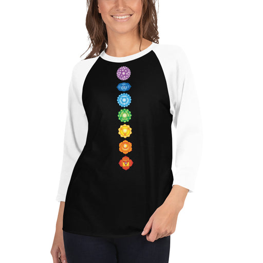 Essentials Chakras - 3/4 sleeve raglan shirt