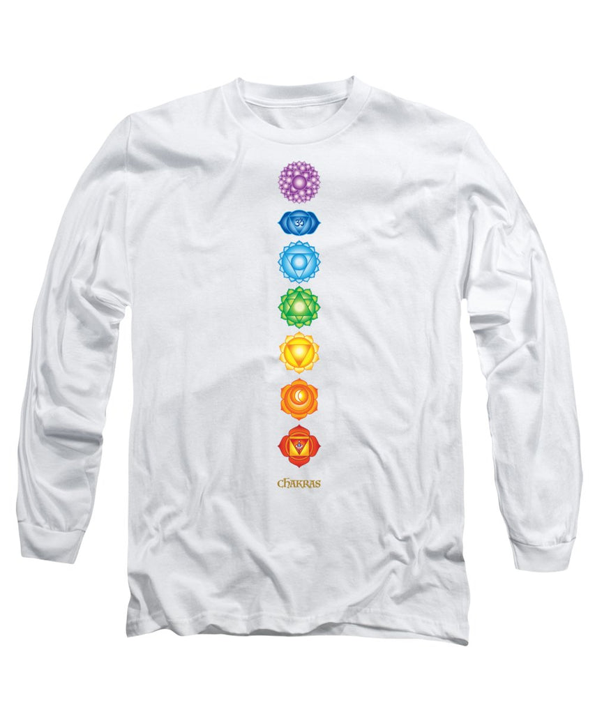 The 7 Chakras On Black - Long Sleeve T-Shirt