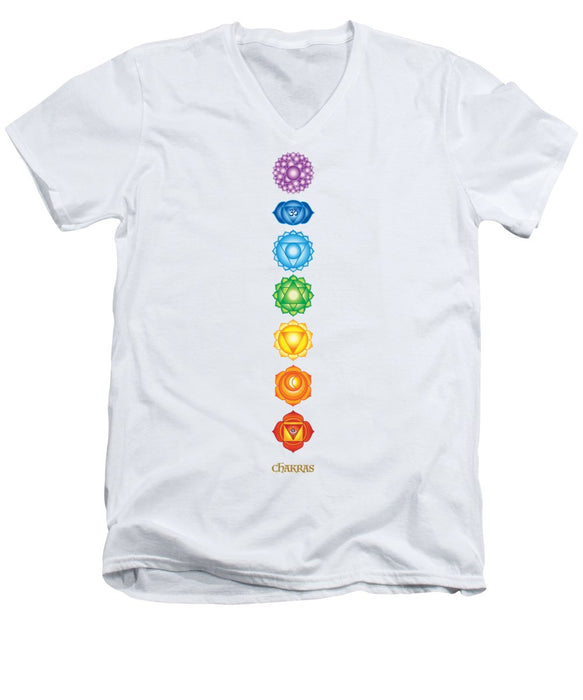 7 Chakras - Men's V-Neck T-Shirt