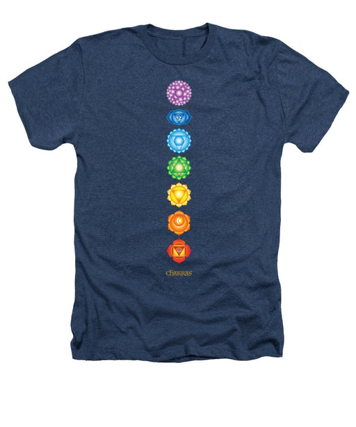 The 7 Chakras On Black - Heathers T-Shirt