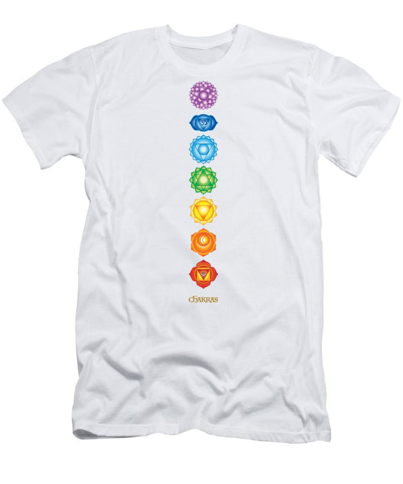 The 7 Chakras On Black - Men's T-Shirt (Athletic Fit)
