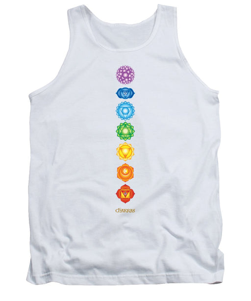 The 7 Chakras On Black - Tank Top