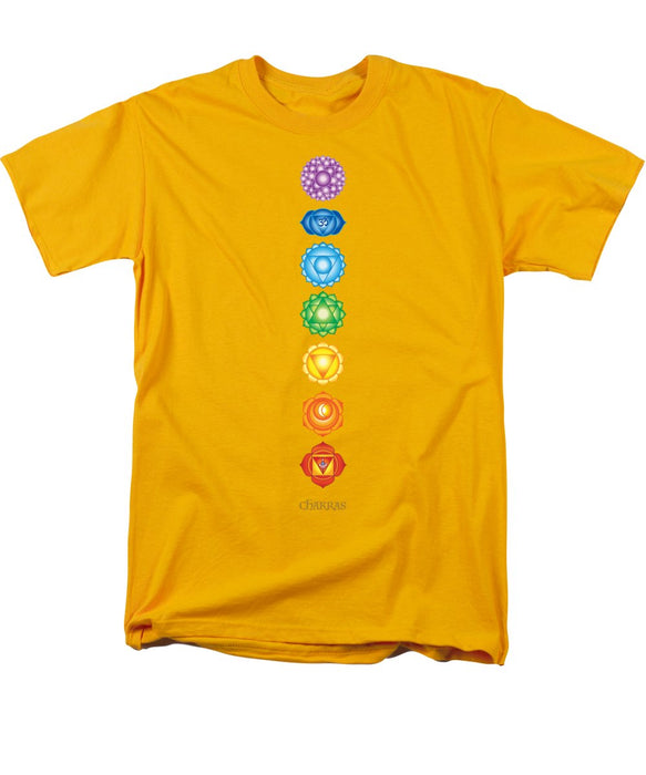 The 7 Chakras On Black - Men's T-Shirt  (Regular Fit)