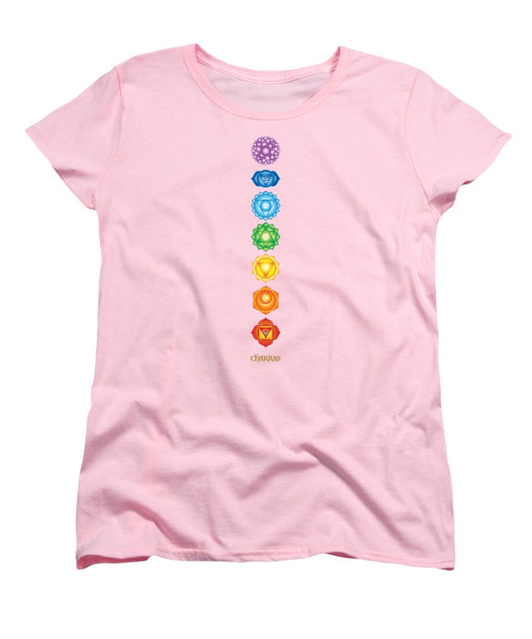The 7 Chakras On Black - Women's T-Shirt