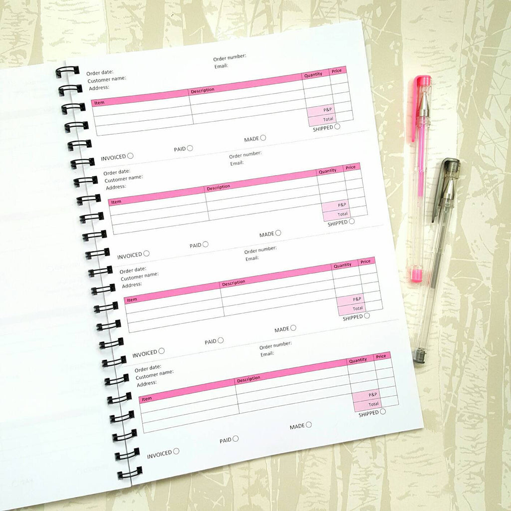 A4 Order Book, designed to suit your business