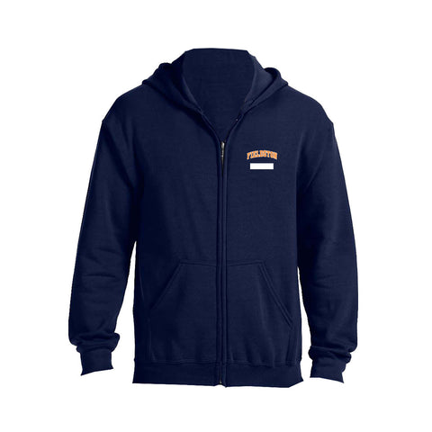 Youth Full Zip Hoodie - Navy