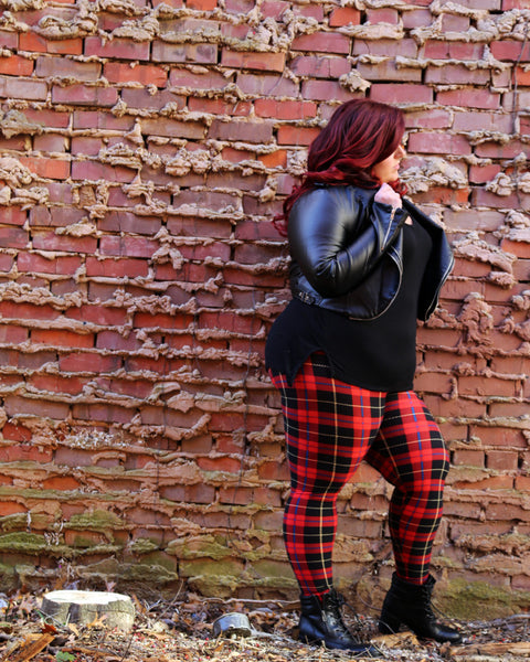 Plaid Leggings - On Trend for this Fall !