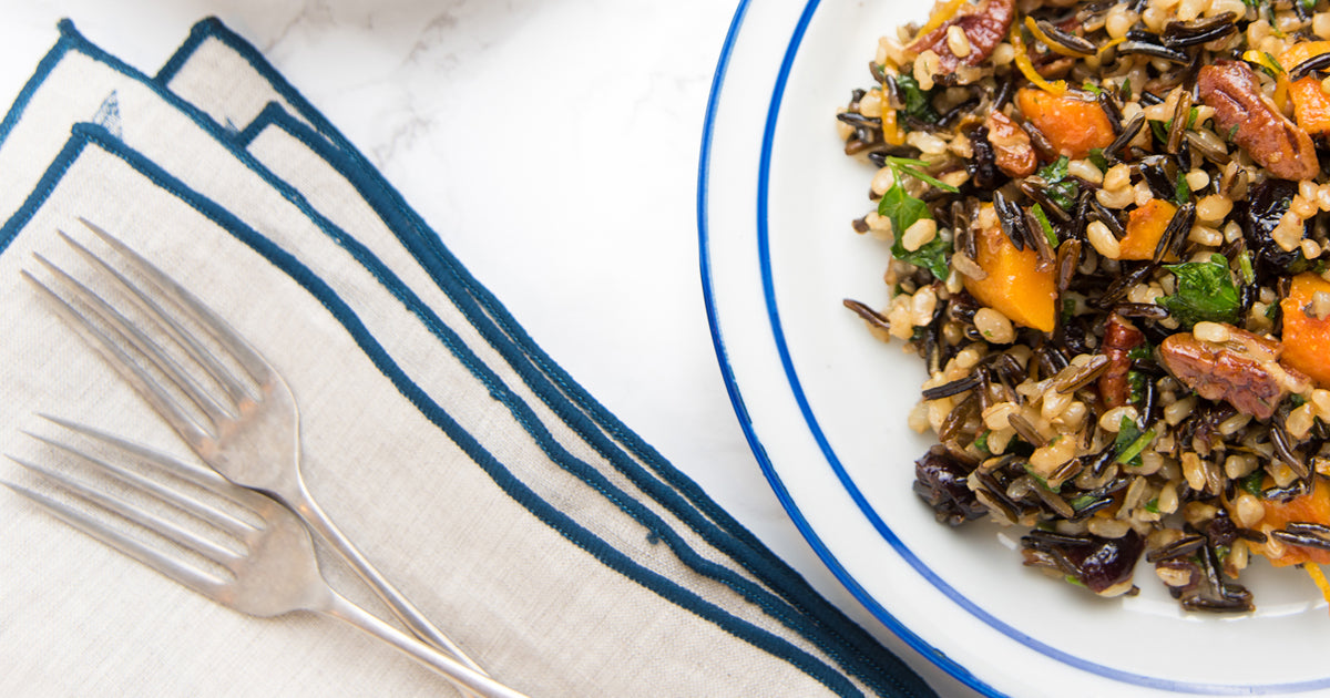 Sweet Potato Wild Rice Pilaf