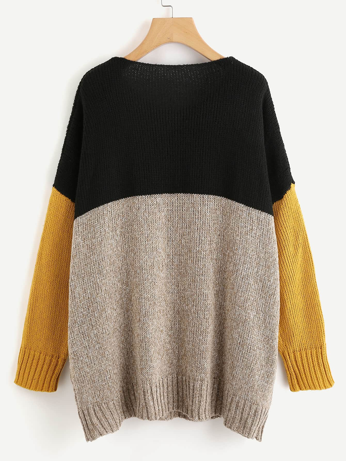 Oversized Color Block Knit Sweater | Sweater | SHEIN | Joan & Vern's Apparel