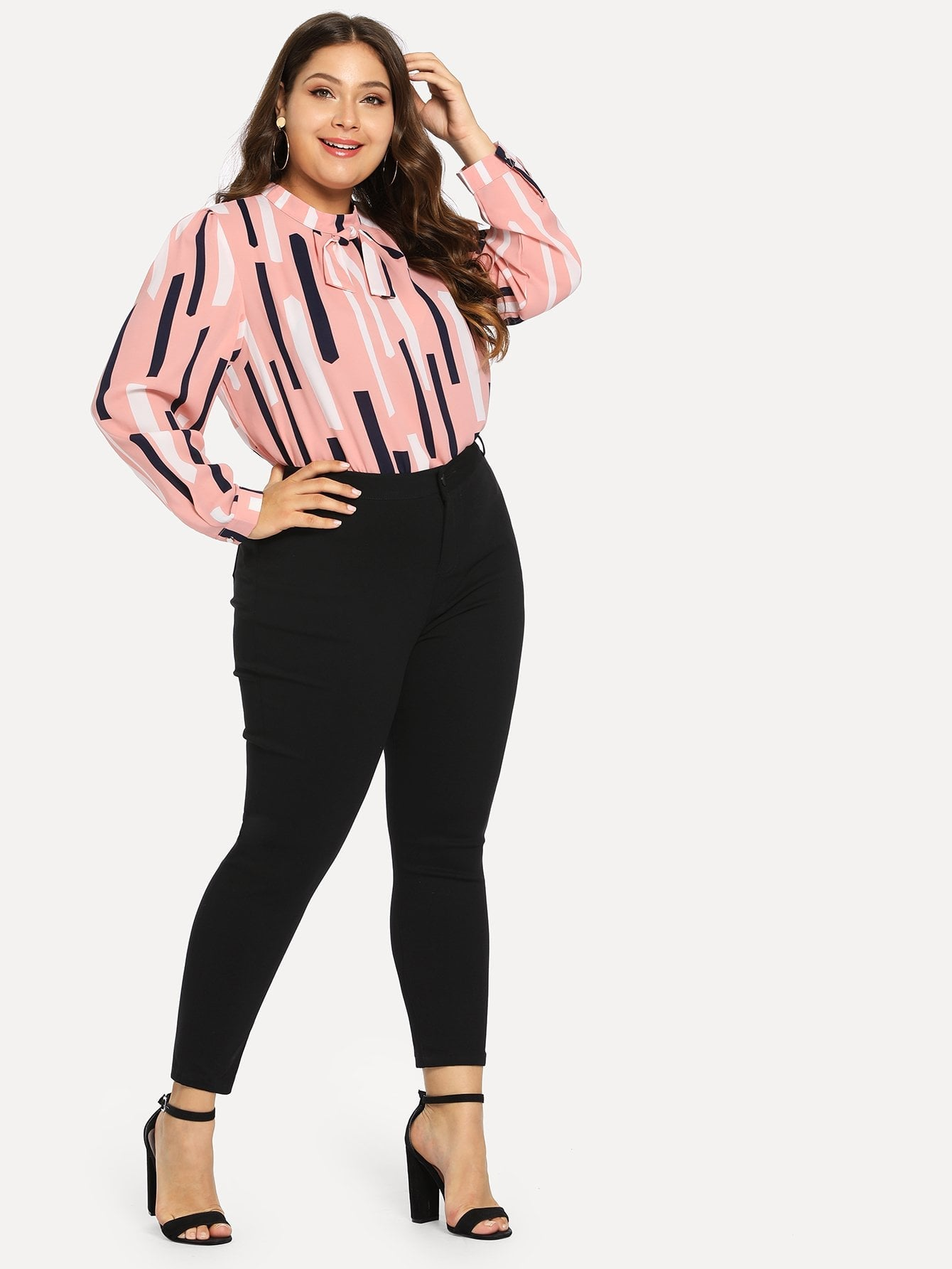 Plus Size Black Stretch Skinny Jeans