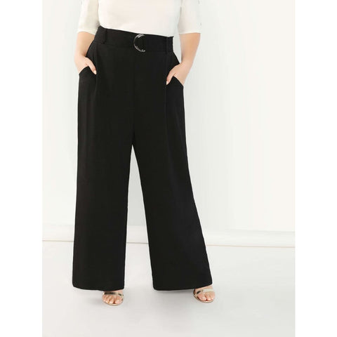 Plus-Size-Adjustable-Belted-Wide-Leg-Pants - Shein - Joan & Verns Apparel