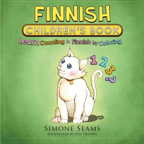 Finnish Children's Book: Learn Counting in Finnish by Coloring
