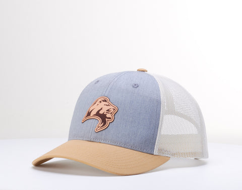 Leather Lion Patch Cap - Chambray