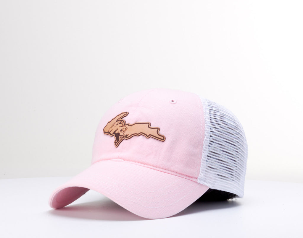 Leather UP Patch Cap - Pink