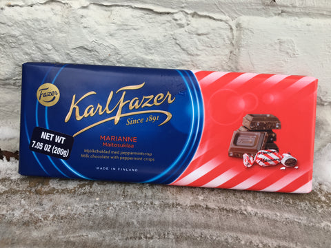 Fazer Milk Chocolate with Peppermint Crisps Bar