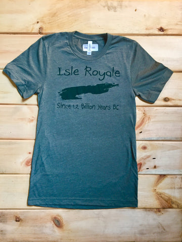 Isle Royale Tee - Heathered Forest Green