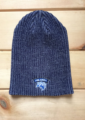 Slouch Winter Hat - Navy