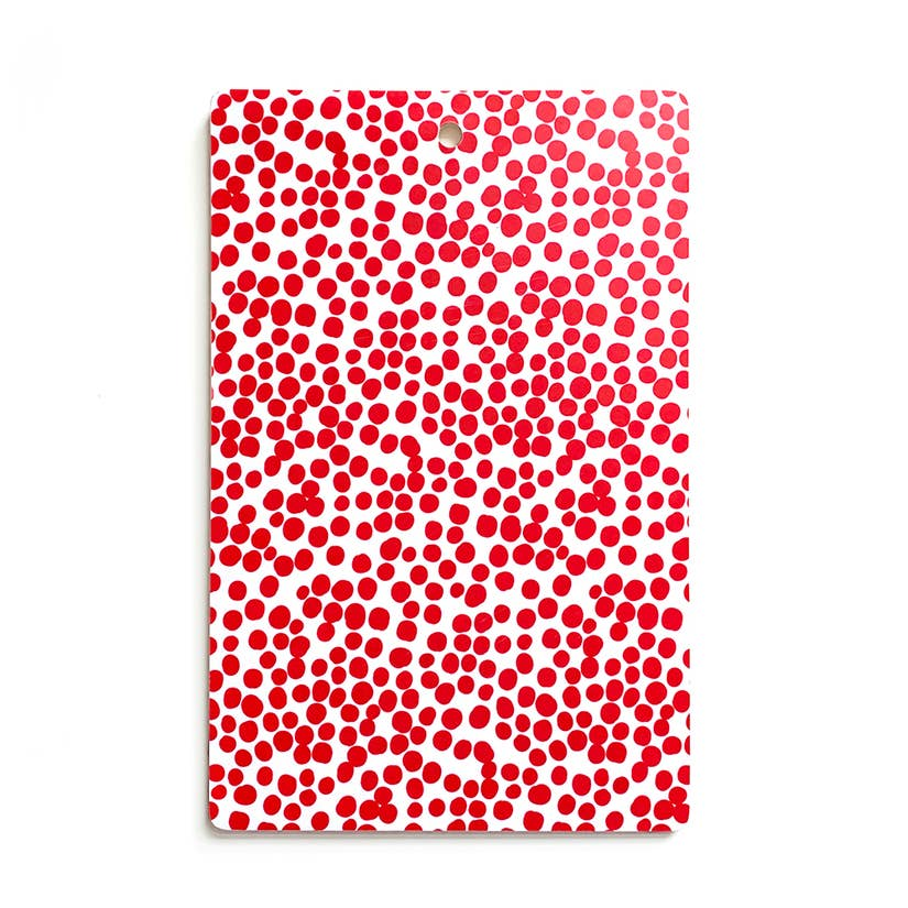 Cutting Board - Red Dots