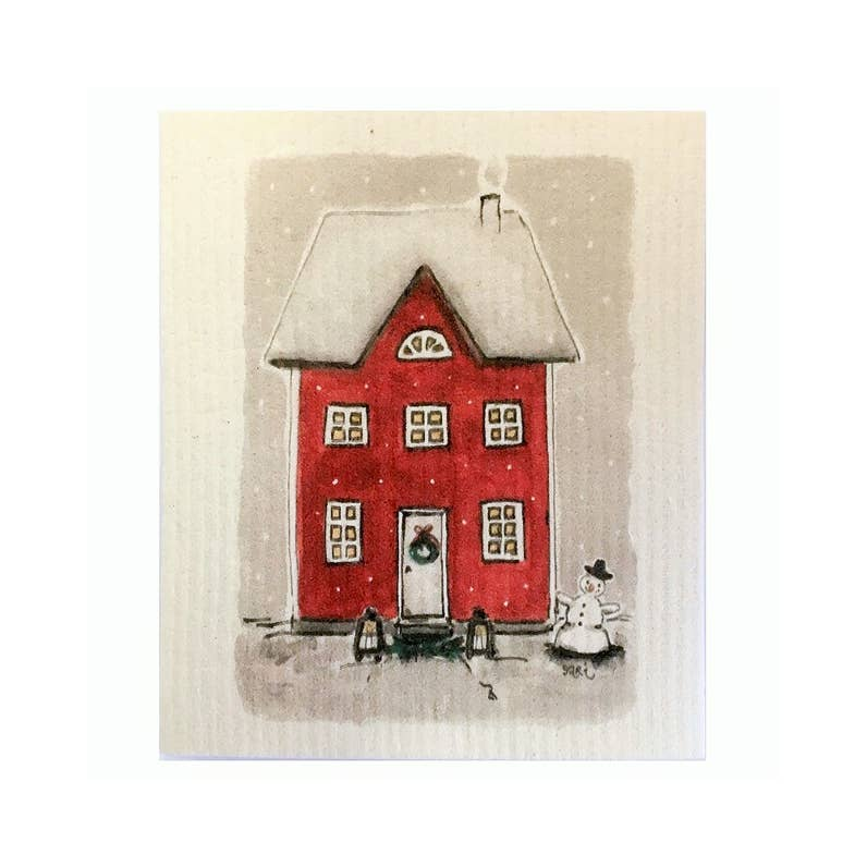 Dishcloth - Red House