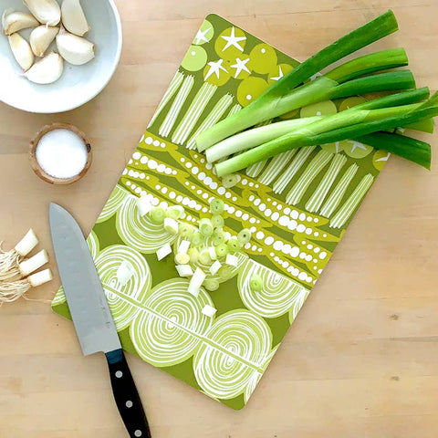 Cutting Board - Green Veggies