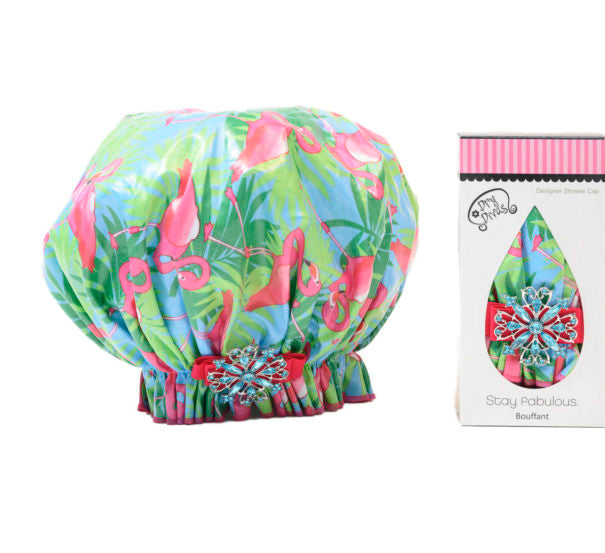 Single and Ready to Fla-Mingle Bouffant Shower Cap