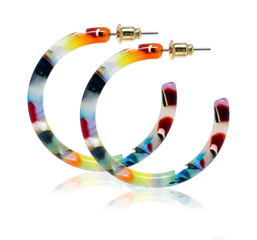 Fenna & Fei Medium Hoop Earrings