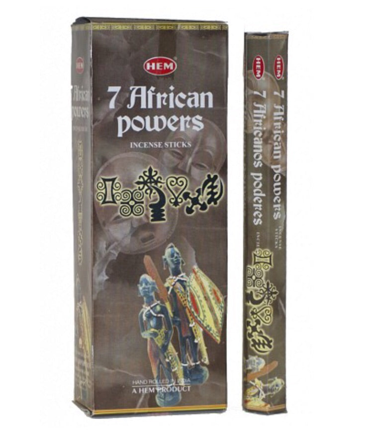 7 African Powers Incense Sticks