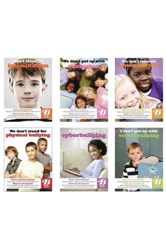 Bully Free Posters (Set of 6, Laminated)