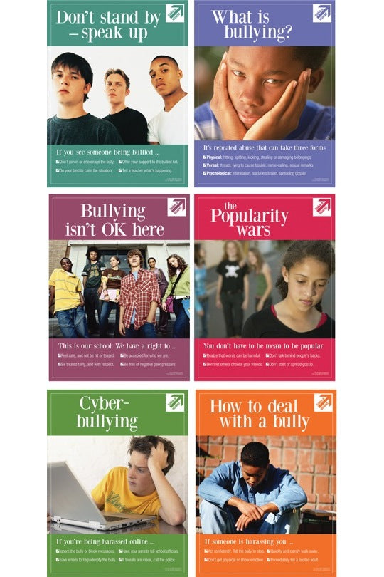 Bullying: Take a Stand Posters (Set of 6 Laminated)