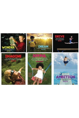 Life is an Adventure Posters (Set of 6, Laminated)