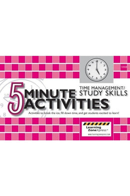5 Minute Time Management & Study Skills Activities Grades 6-12