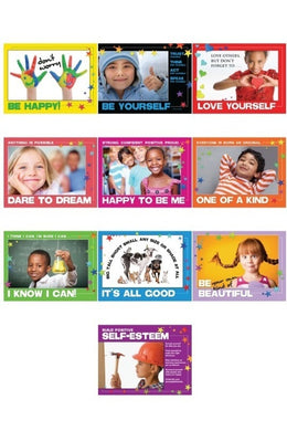 Positive Kids Posters (Set of 10, Laminated)