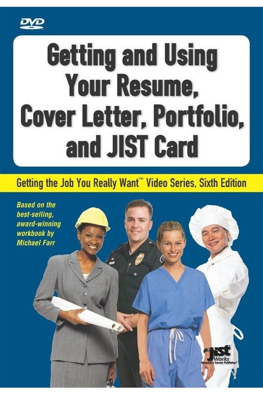 Getting And Using Your Resume Cover Letter Portfolio JIST Card DVD