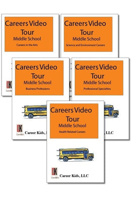 Careers Video Tour DVD Middle School Version 1st Ed Set of 5
