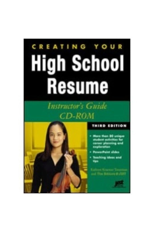 Creating Your High School Resume Instructor's Guide CD
